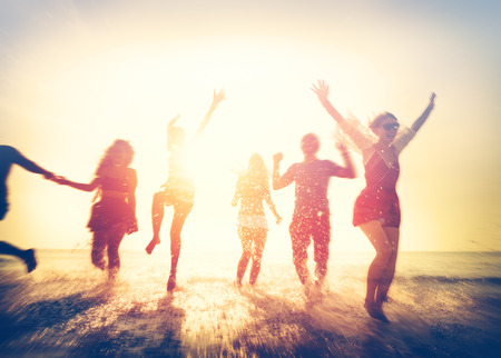 Vriendschap Freedom Beach Summer Holiday Concept Stockfoto