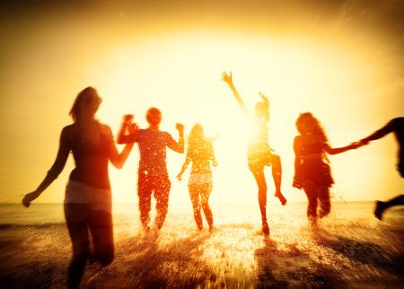 Friendship Svoboda Beach Letní dovolená Concept Reklamní fotografie