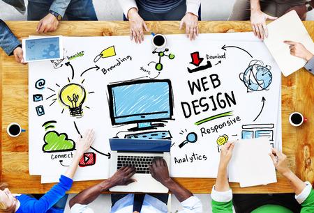 Inhalt Kreativität Digital Grafik-Layout Webdesign Webpage Konzept