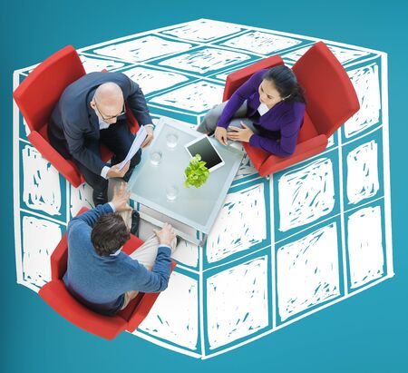 logica: Cubo Dado Dimensi�n L�gica Mente Concepto Pensamiento Foto de archivo