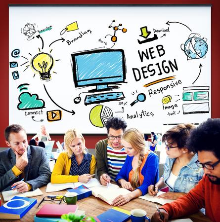 conception: Web Design Développement Web Responsive concept de marque