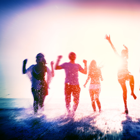 Friendship Freedom Beach Summer Holiday Concept Stock Photo - 41873984