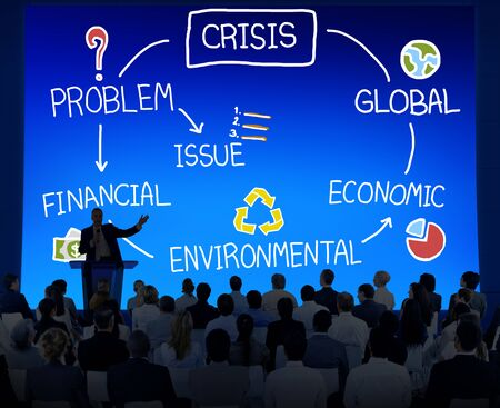 economic issues: Crisis Economic Environmental Finance Global Concept