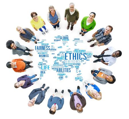 Ethiek Idealen Principes Moraal Standards Concept