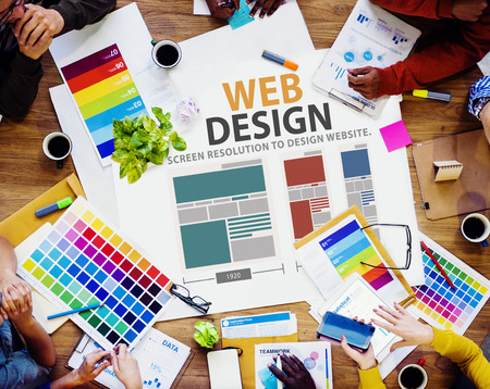 design office: Web Design Network Website Ideas Media Information Concept