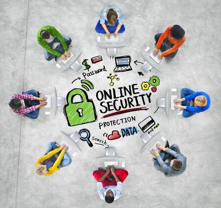 security technology: Online Security Protection Internet Safety Online Technology Concept