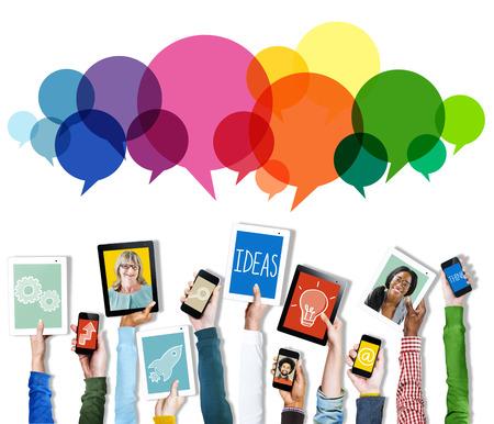 スピーチ泡メッセージ概念シンボル コミュニケーション アイデア コンセプト 写真素材