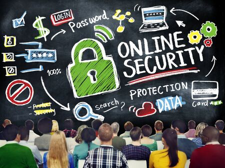internet safety: Online Security Protection Internet Safety Learning Education Concept