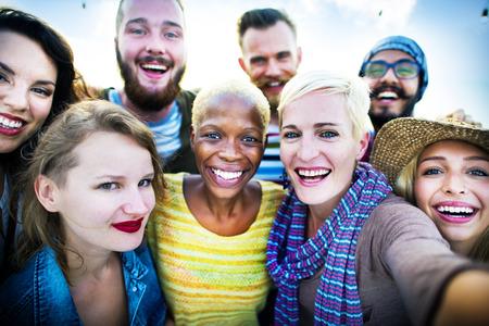 Friendship Selfie Štěstí Beach Summer Concept