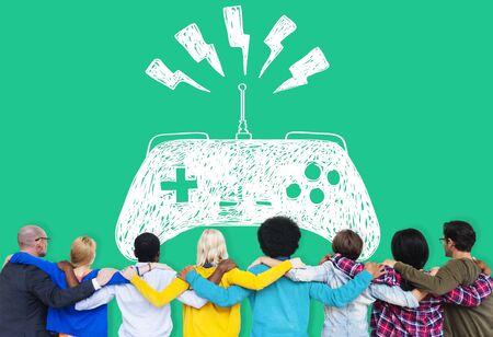 game controller: Game Controller Joystick Console Control Concept