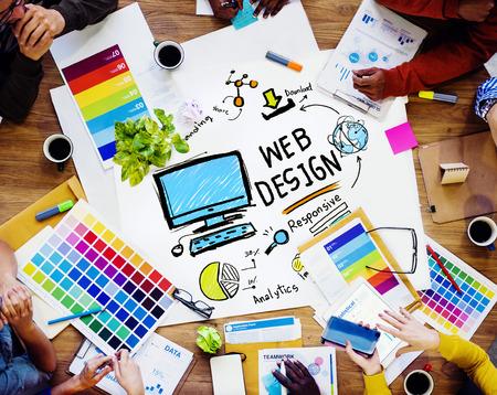 Mise en page graphique contenu Créativité numérique Webdesign page Web Concept