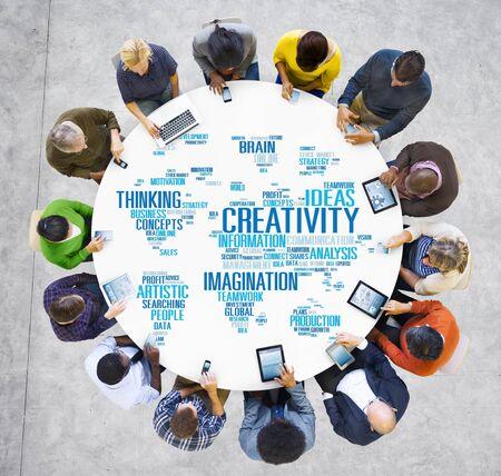 mobile phone: Creativity Artistic Imagination Inspiration Innovation Concept