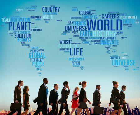 map: World Globalization International Life Planet Concept