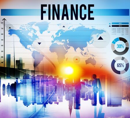 banking concept: Finance Marketing Business Banking Concept Stock Photo