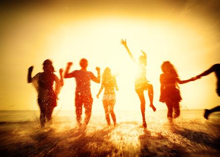 Vriendschap Freedom Beach Summer Holiday Concept Stockfoto - 41921043