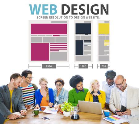 web browser: Web Design Network Website Ideas Media Information Concept