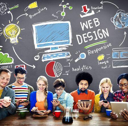 web design: Web Design Web Development Responsive Branding Concept