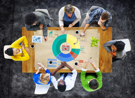 analytic: Analysis Analytic Marketing Sharing Graph Diagram Concept Stock Photo