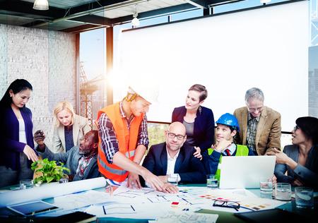 trabajo en equipo: Trabajo Debate Team Concept Gente Negocios Oficina Foto de archivo