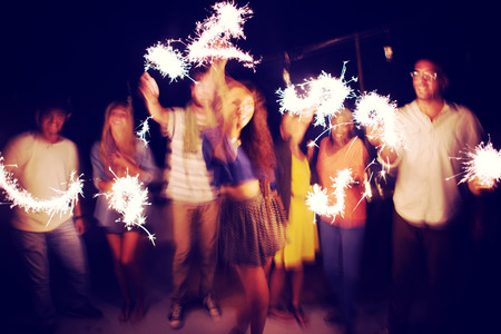 fuegos artificiales: Diverse étnico Partido Amistad Ocio Felicidad