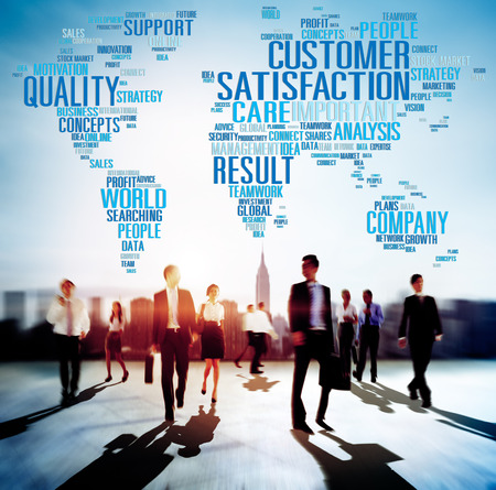 Klanttevredenheid Betrouwbaarheid Quality Service Concept Stockfoto