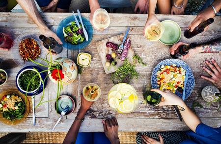 Yiyecek İçecek Parti Öğün İçecek Konsepti Stok Fotoğraf
