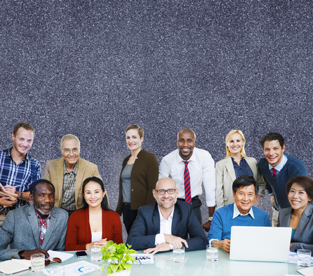 large group of business people: Adult Group of People Occupation Smiling  Concept
