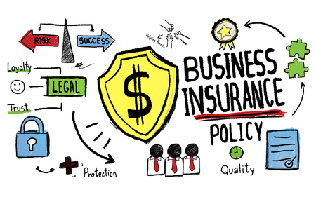 Business insurance policy concept