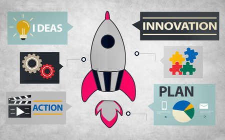business innovation: New Business Innovation Strategy Technology Ideas Concept