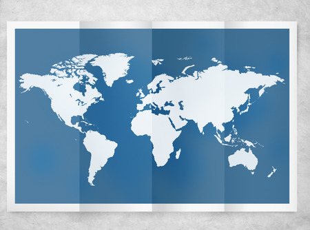 Wereld Global Business Cartografie Globalisering International Concept