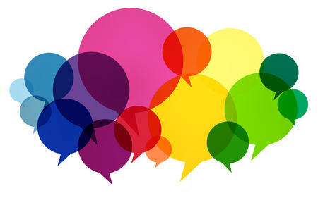 Speech Bubbles Colorful Communication Thoughts Talking Concept Banco de Imagens - 42746608