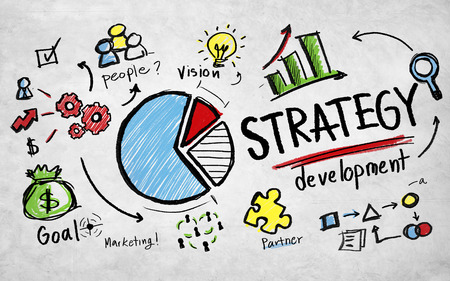 planung: Strategie-Entwicklungsziel Marketing Vision Planning Business Concept