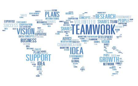 teamwork business: Global Business Vision Growth Success Teamwork Concept