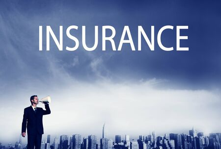 safty: Business Insurance Policy Safty Protection Concept Stock Photo