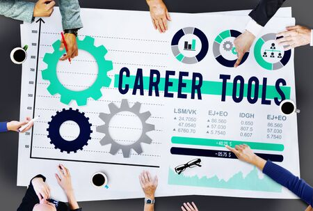 job occupation: Career Tools Employ Hire JOb Occupation Concept
