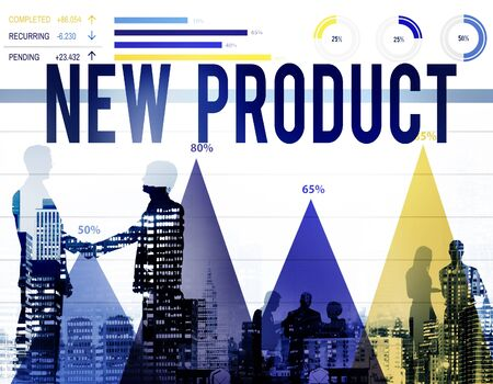 stock market launch: New Product Branding Advertising Marketing Concept
