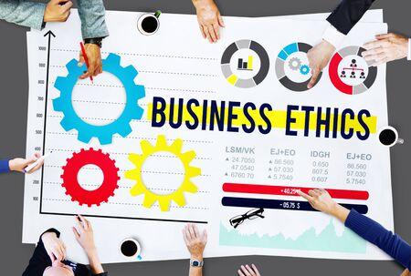 ethnics: Business Ethnics Awareness Honesty Legal Concept
