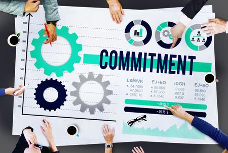 pledge: Commitment Compliance Loyalty Pledge Promise Concept Stock Photo