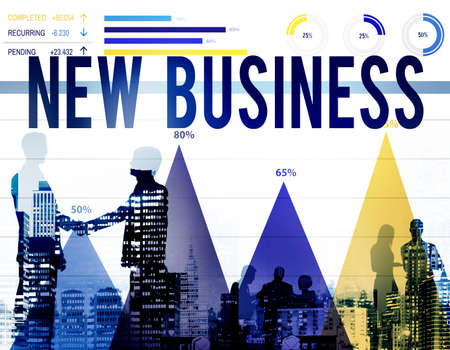 stock market launch: New Business Start Up Business Plan Innovation Concept
