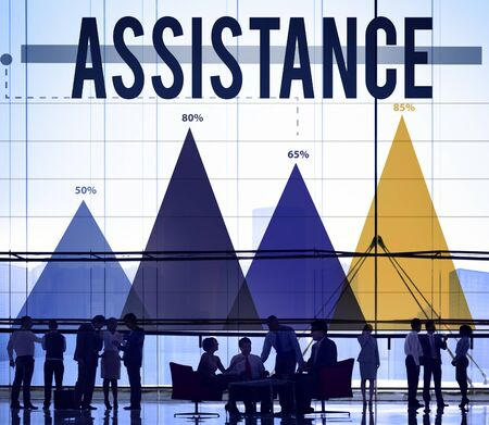 the help: Assistance Support Organization Help Partnership Concept