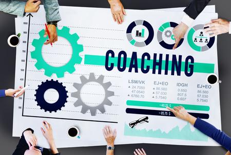 lider: Entrenamiento Experto Líder Coach Administrar Concepto Foto de archivo