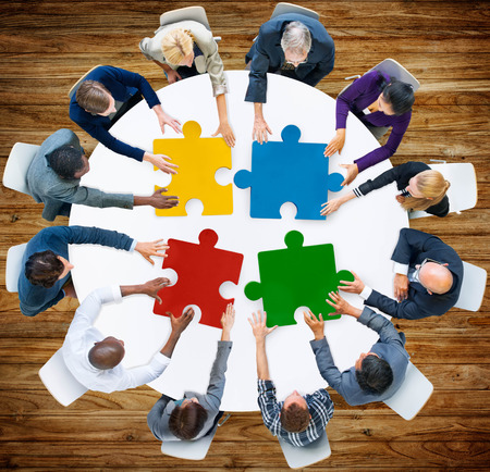 puzzle jigsaw: Business People Jigsaw Puzzle Collaboration Team Concept