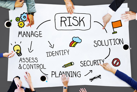 Risk Management Access and Control Zwakte Concept Stockfoto