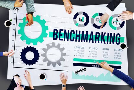 benchmarking: Benchmarking Development Business Effciency Concept
