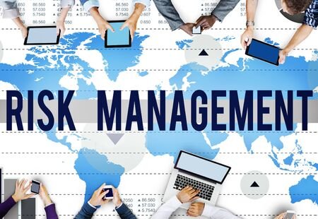 business risk: Risk Management Control Analysis Protection Concept