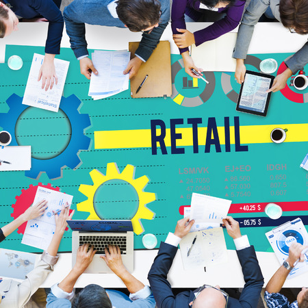 purchase: Retail Buying Shopping Commerce Purchase Concept Stock Photo