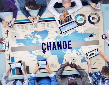 new opportunity: Change New Opportunity Process Revolution Concept Stock Photo