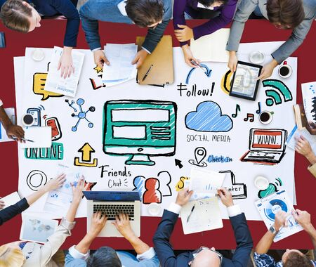 professional occupation: Social Media Social Networking Technology Connection Concept
