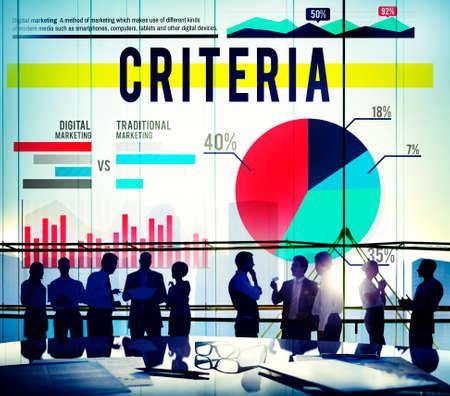 edicto: Criterios Concepto Reglamento Estadísticas Marketing de Negocios Foto de archivo