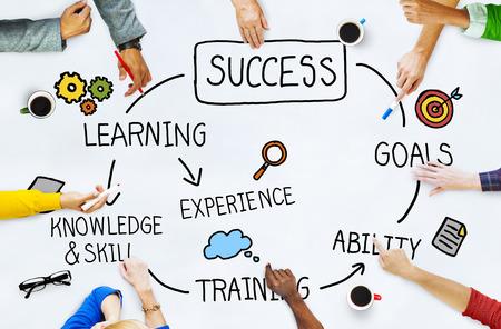 성공 목표 달성 성공 완벽한 개념
